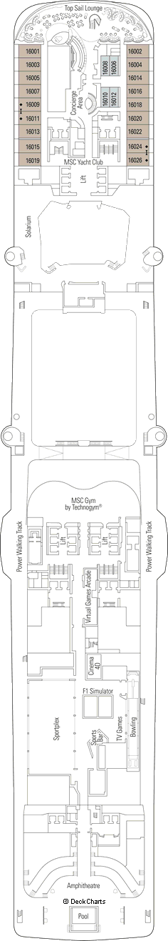 MSC Bellissima: Meraviglia Deck