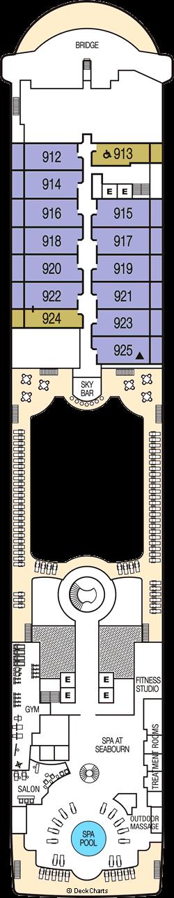 Seabourn Odyssey: Deck 9