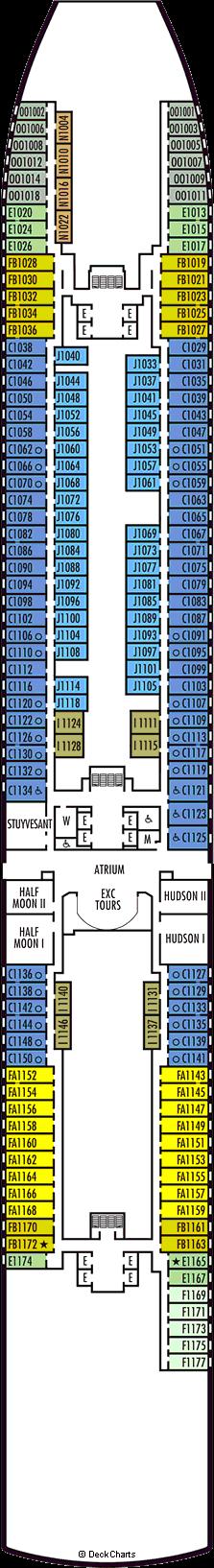 Koningsdam: Main Deck