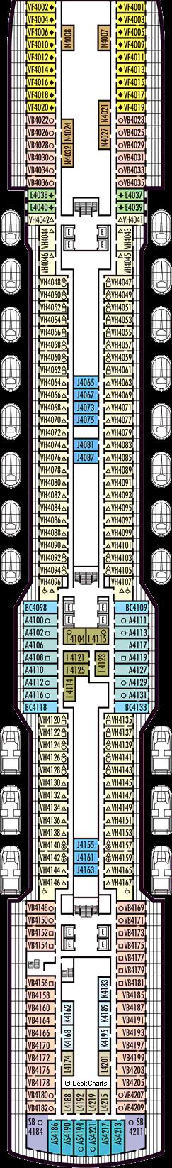 Koningsdam Deck 4 Beethoven Deck Cruise Critic