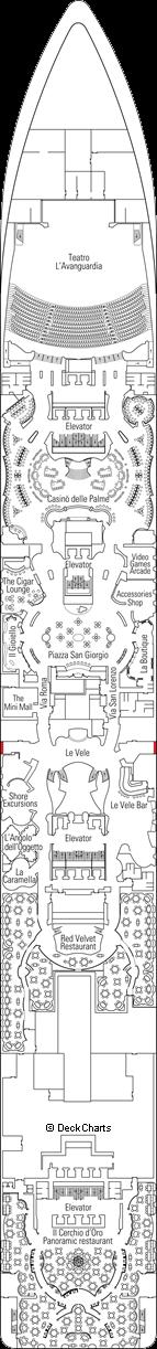 MSC Fantasia: Magnifico Deck