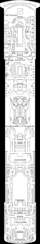 MSC Fantasia: Miraggio Deck