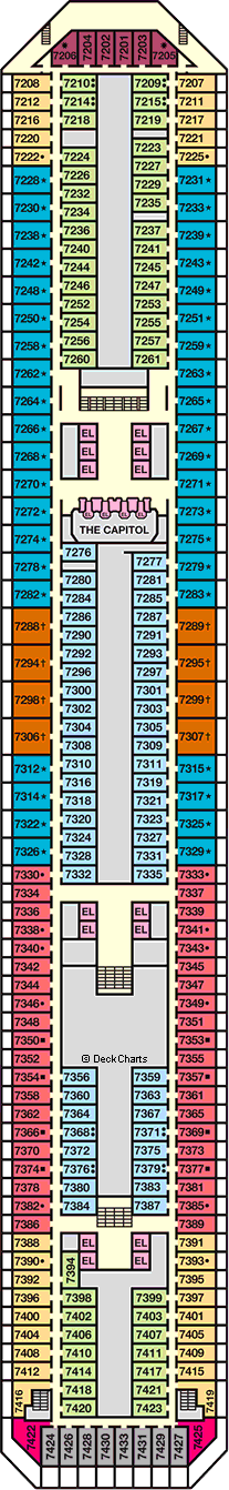 Carnival Triumph Deck Plans: Ship Layout, Staterooms & Map - Cruise on
