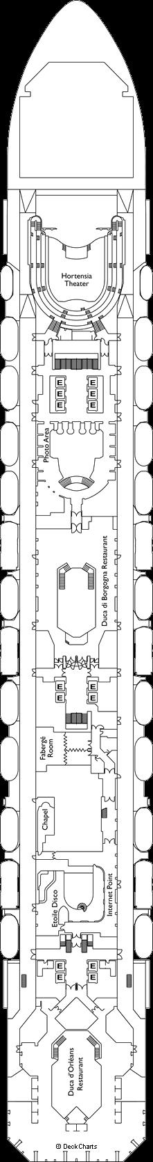 Costa Favolosa: Versailles Deck