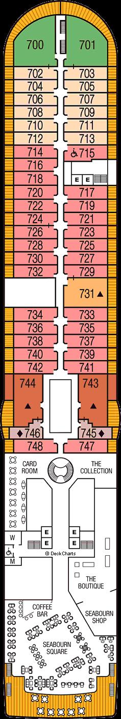 Seabourn Sojourn: Deck 7