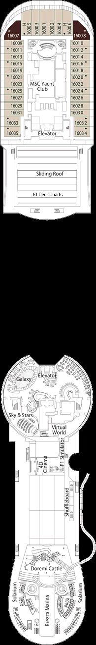 MSC Preziosa: Acquamarina Deck
