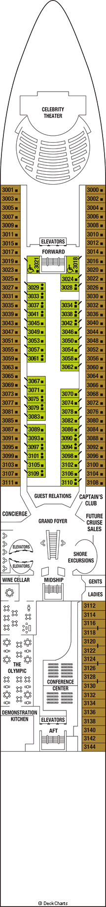 Deck Plans | Celebrity Millennium | The Luxury Cruise Company