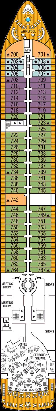 Seabourn Ovation: Deck 7