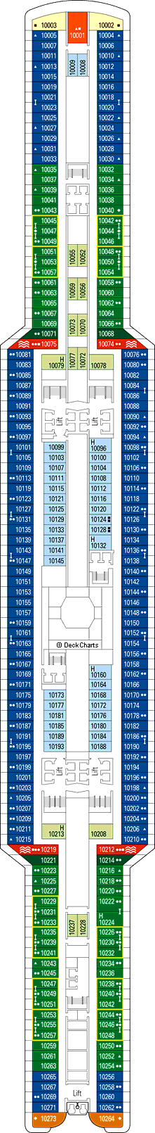 MSC Seaview Deck Plans: Ship Layout, Staterooms & Map ...