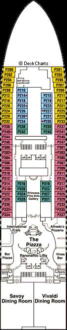 Sapphire Princess: Plaza Deck