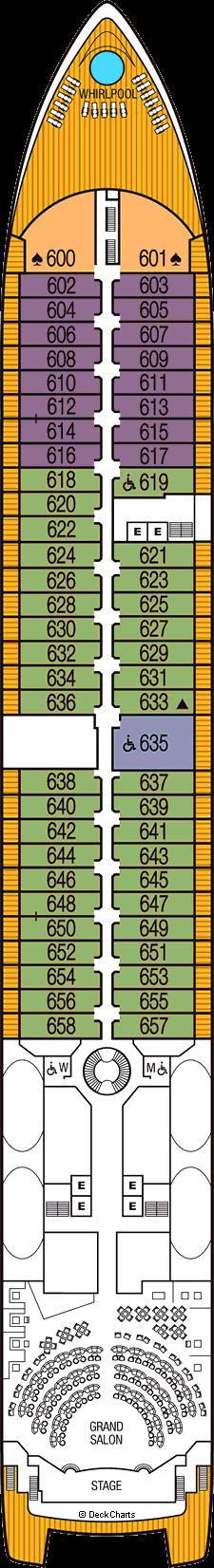 Seabourn Odyssey: Deck 6