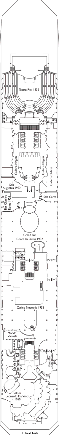 Costa Fortuna: Genova Deck