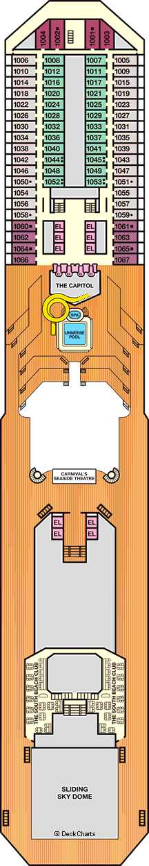 Carnival Triumph: Deck 10