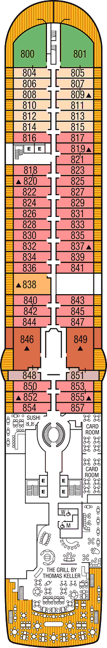 Seabourn Encore: Deck 8