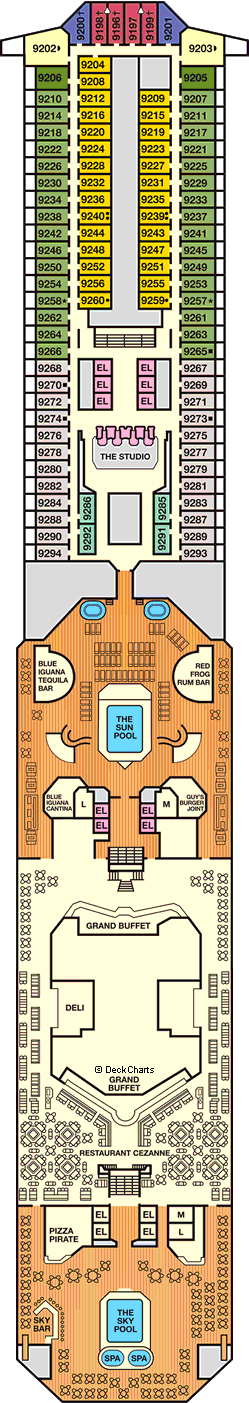 Carnival Conquest: Lido Deck