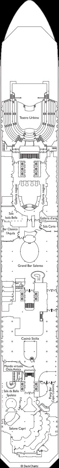 Costa Magica: Leonardo Deck