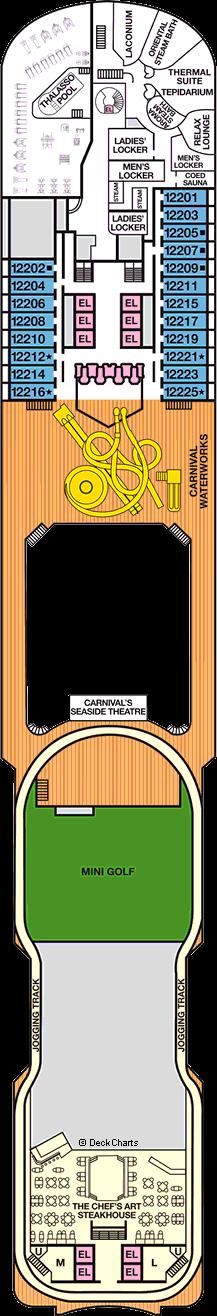 Carnival Panorama deck 10 plan | CruiseMapper