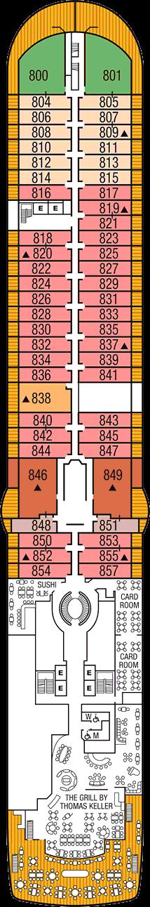 Seabourn Ovation: Deck 8