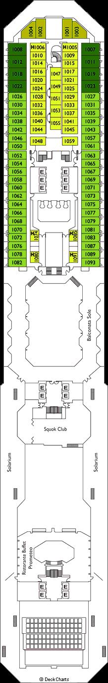 Costa Serena: Taurus Deck