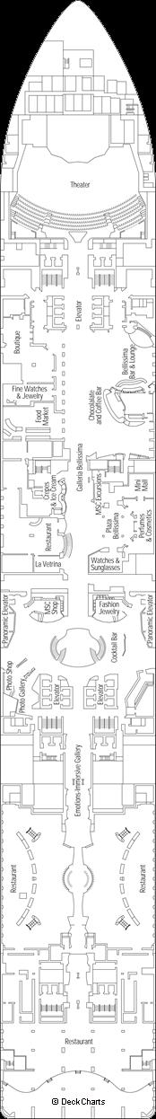 MSC Bellissima: Lirica Deck