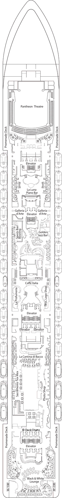MSC Divina: Apollo Deck