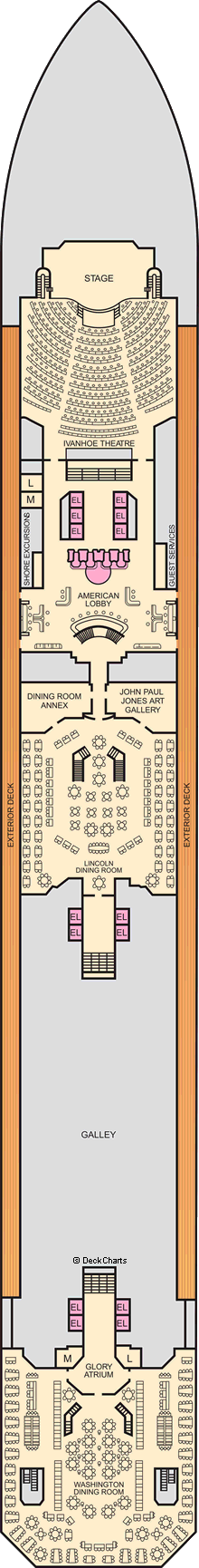 Carnival Valor: Lobby Deck