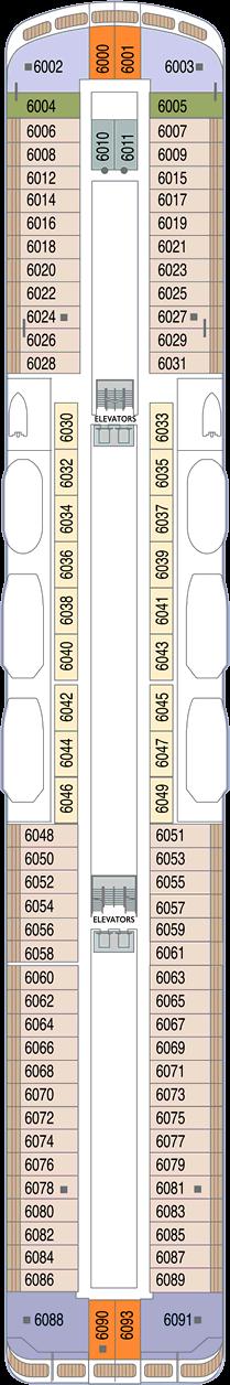 Azamara Pursuit: Deck 6