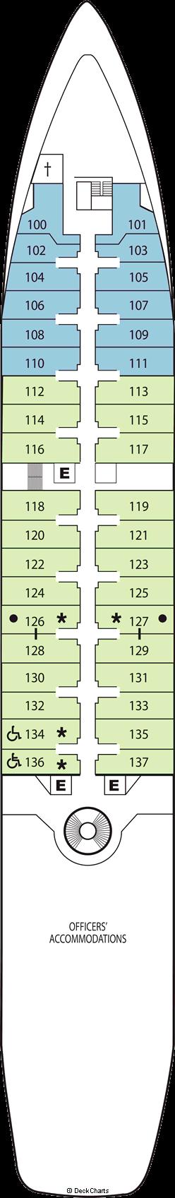 Seabourn Spirit: Deck 4