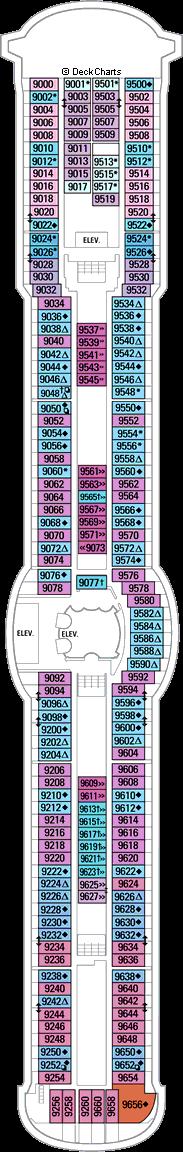 Jewel of the Seas: Deck 9