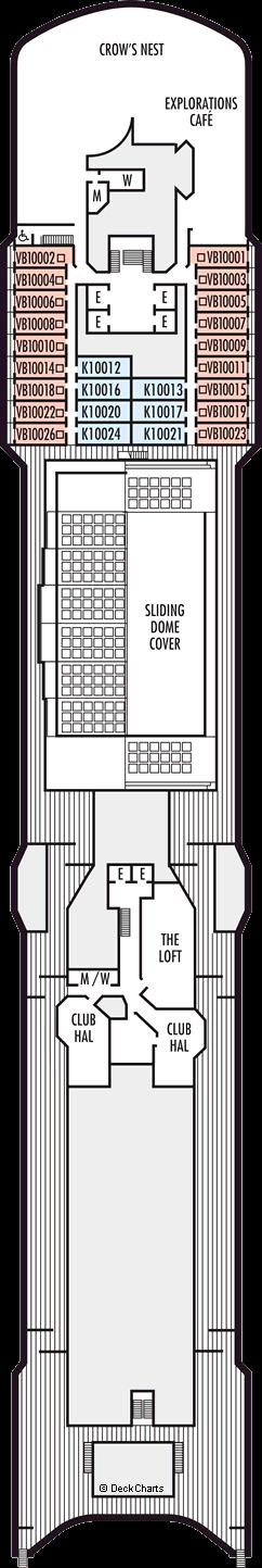 Zuiderdam: Observation Deck