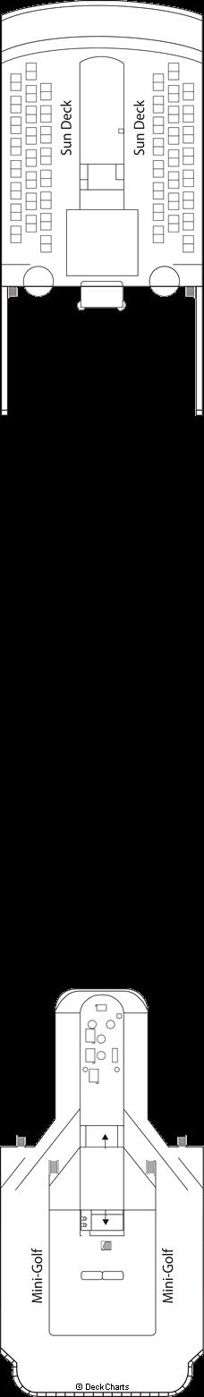 MSC Lirica: Sun Deck / Mini-Golf Deck