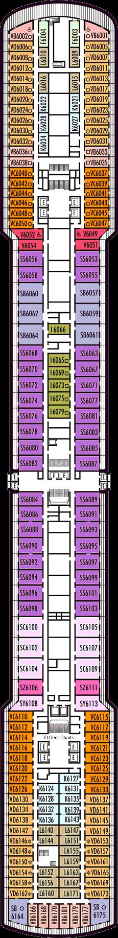 Eurodam: Upper Verandah Deck