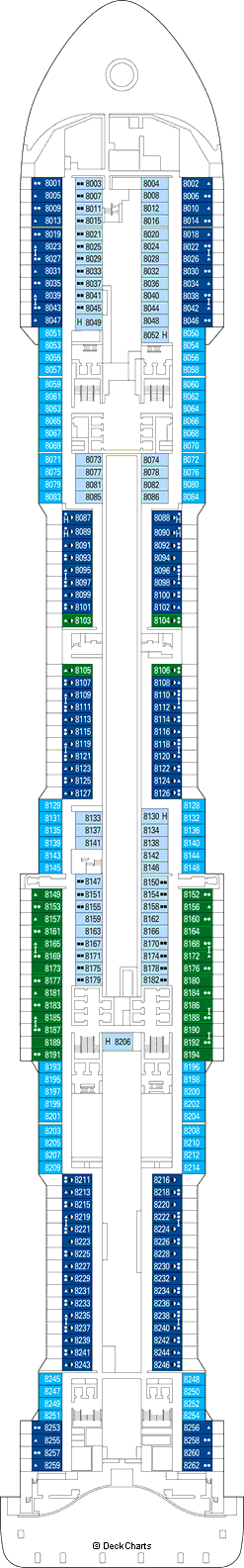 MSC Grandiosa Deck Plans, Ship Layout & Staterooms ...