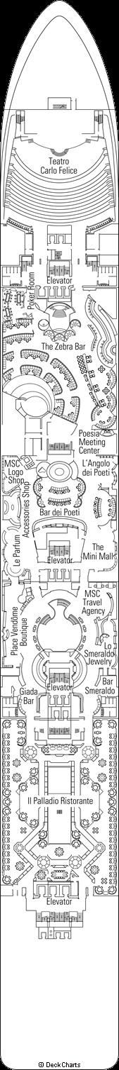 MSC Poesia: Dante Deck