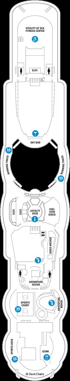 Jewel of the Seas: Deck 12