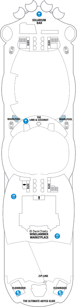 Allure of the Seas: Deck 16