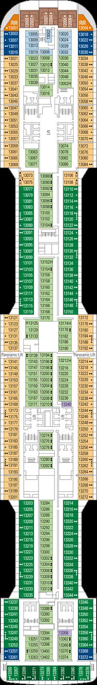 MSC Grandiosa Deck Plans: Ship Layout, Staterooms & Map ...