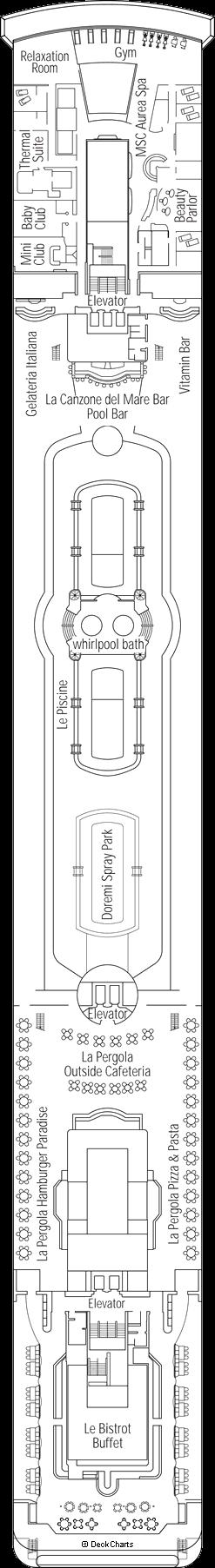 MSC Lirica: Vivaldi Deck