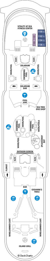 Adventure of the Seas: Deck 11