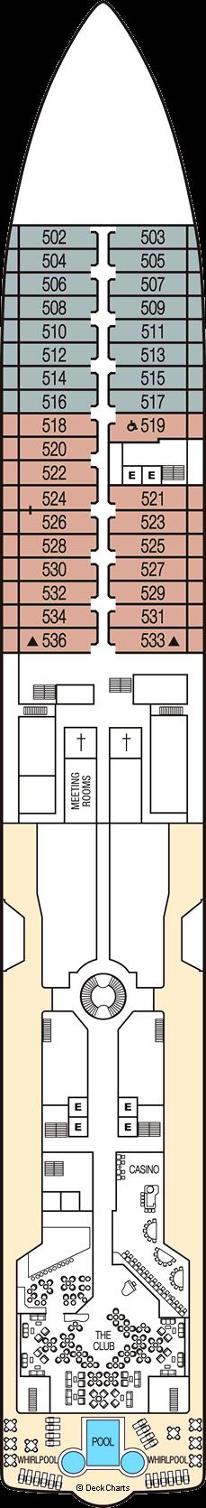 Seabourn Sojourn: Deck 5