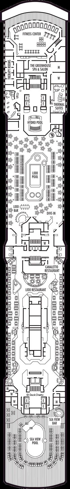 Zuiderdam: Lido Deck