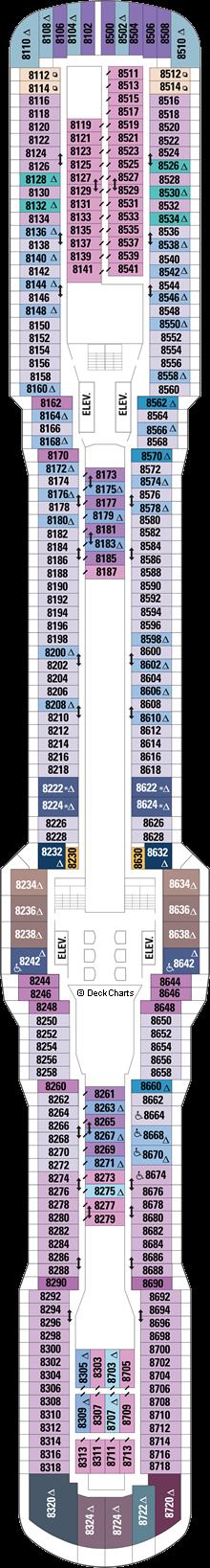Ovation of the Seas: Deck 8
