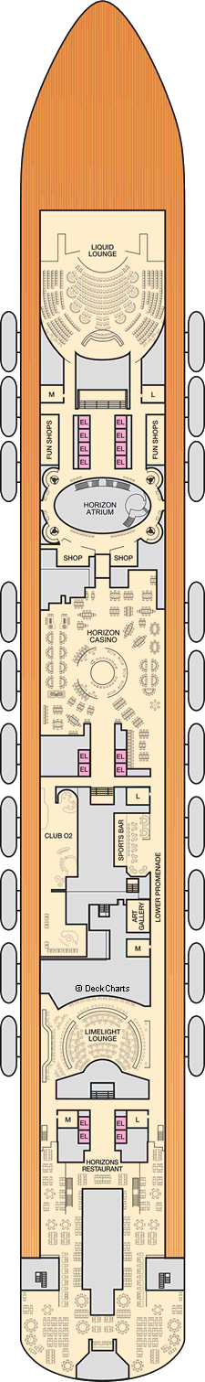 Carnival Horizon Deck Plans Ship Layout Amp Staterooms Cruise Critic