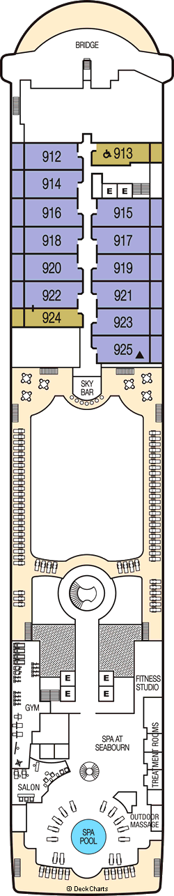 Seabourn Sojourn: Deck 9