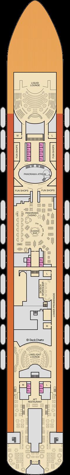 Carnival Panorama : Mezzanine Deck