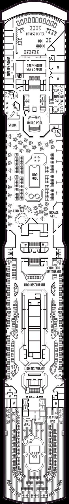 Nieuw Amsterdam: Lido Deck