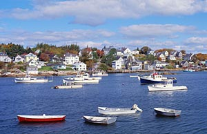 American Spirit - View of Maine from the Ship