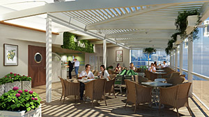 Celebrity Reflection - The Porch, a 48-seat eatery overlooking the lawn