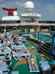 Carnival Spirit - The ship offers a lot of open deck space for sunning.