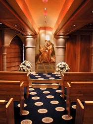 Carnival Spirit - Spirit introduced the first wedding chapel for the line.